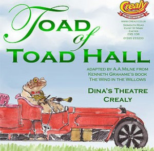 Advert for a modern theatrical production of Toad of Toad Hall